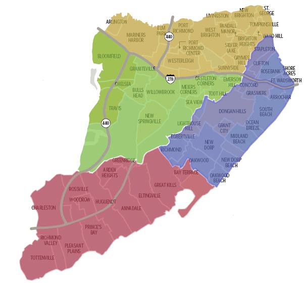 Map Of Staten Island Ny Staten Island NY Neighborhood Map | Staten Island NY Real Estate  Map Of Staten Island Ny